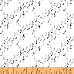 Musical Notes in Whte
