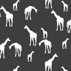 Giraffe Silhouette in Onyx