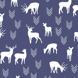 Deer Silhouette in Indigo