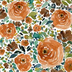Copper Roses in White