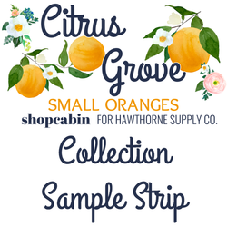 Citrus Grove Sample Strip Small Oranges