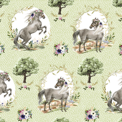 Royal Horses in Dappled Meadow