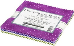 """Flowerhouse Basics 5"""" Square Pack in Lilac"""