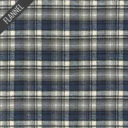 Mammoth Small Tartan Plaid Flannel in Ash