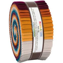"Kona Solid 2.5"" Strip Roll in Tuscan Skies"