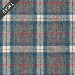 Mammoth Simple Plaid Flannel in Smoke