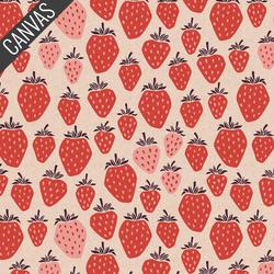 Queen of Berries Canvas in True Red