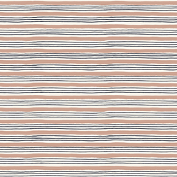 Painterly Stripes in French Rose