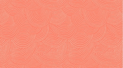 Scallop Dot in Tangerine