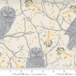 Woodland Owls in Ivory