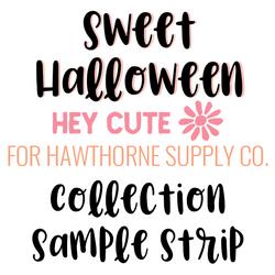 Sweet Halloween Sample Strip