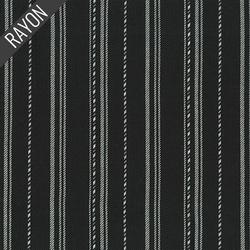 Rayon Twill Yarn Dye in Black