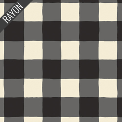 Plaid of my Dreams Rayon in Snow
