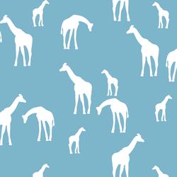 Giraffe Silhouette in Surf