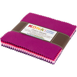 Kona Cotton Solids Charm Squares in Wildberry