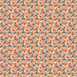 Mini Autumn Floral in Warm Orange