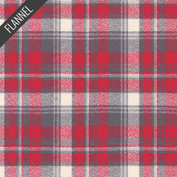 Mammoth Wide Small Tartan Plaid Flannel in Red