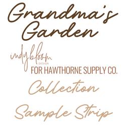 Grandma's Garden Sample Strip