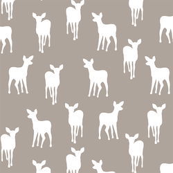 Fawn Silhouette in Taupe