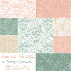 Blooming Wonderful Fat Quarter Bundle in Vintage Silhouettes