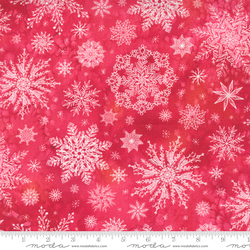 Snowflakes in Christmas Red