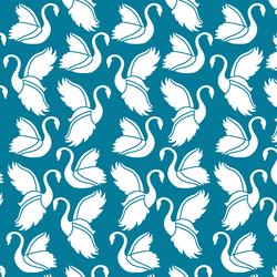 Swan Silhouette in Peacock