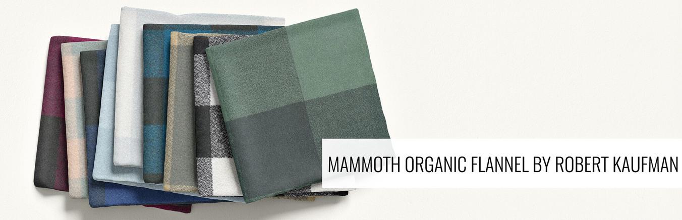 New Mammoth Organic Buffalo Check by Robert Kaufman