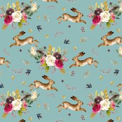 Large Autumn Bunnies in Pool