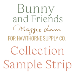 Bunny and Friends Sample Strip