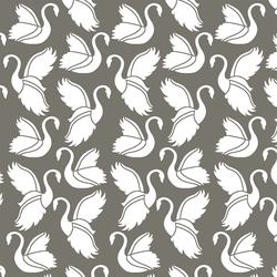 Swan Silhouette in Greige