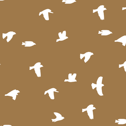 Flock Silhouette in Ochre