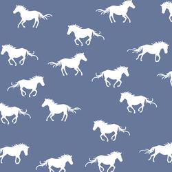 Horse Silhouette in Azurite