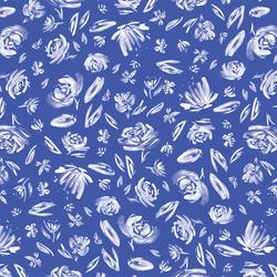 Spring Flowers in Lapis Blue