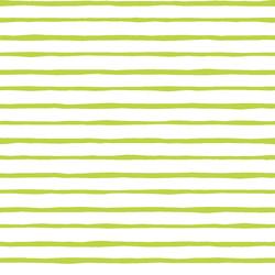Artisan Stripe in Lime on White