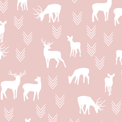 Deer Silhouette in Blush