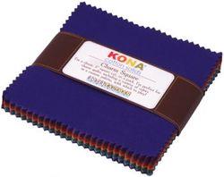 """Kona Solid 5"""" Square Pack in Dark"""