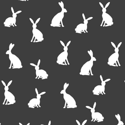 Cottontail Silhouette in Onyx