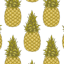 Pineapples in White