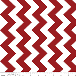 Medium Chevron in Crimson