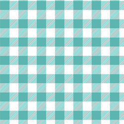Medium Buffalo Plaid in Seafoam