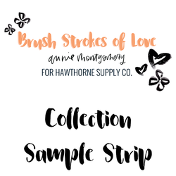 Brush Strokes of Love Sample Strip