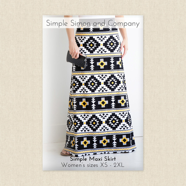 Simple Maxi Skirt Sewing Pattern by Simple Simon and Company at ...
