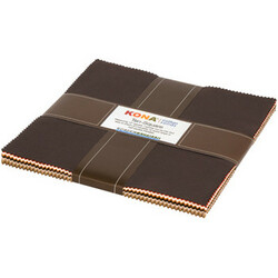 """Kona Solid 10"""" Square Pack in Paintbox Coordinates (Norm and Nanette Colorstory)"""