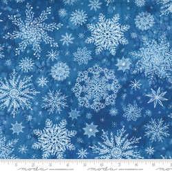 Snowflakes in Christmas Blue