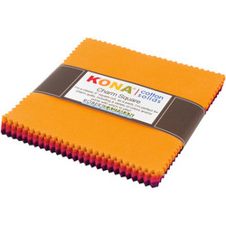 """Kona Solid 5"""" Square Pack in Warm"""