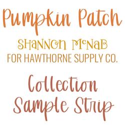 Pumpkin Patch Sample Strip
