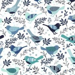 Happy Bird in Blue
