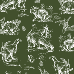 Dinosaurs in Olive Green