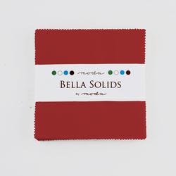 Bella Solids Charm Pack in Red