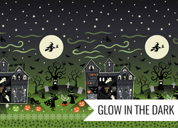 Haunted House Border Print in Green